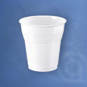 Fehér műanyag pohár 166 cc / 166 ml