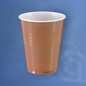 Műanyag pohár barna 200 cc / 200 ml